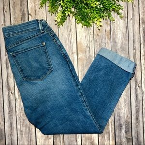 NYDJ Ankle Blue Jeans Stretch Crop Mid Rise Capris
